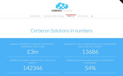 Screenshot of About Page cerberon.solutions - About Us | Cerberon Solutions - captured Jan. 27, 2016