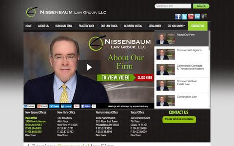 Screenshot of Home Page gdnlaw.com - Business Lawsuits & Transactions | Nissenbaum Law Group - captured Feb. 15, 2016