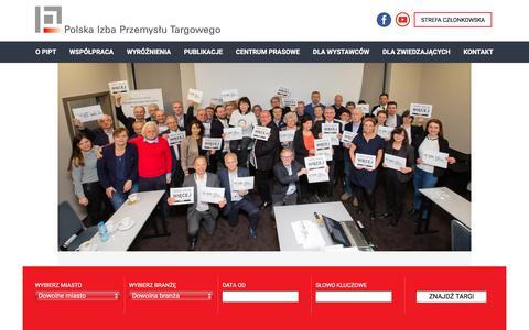 Screenshot of Home Page polfair.pl - Targi, EXPO, Systemy wystawiennicze - Polska Izba Przemyslu Targowego - captured Feb. 12, 2018