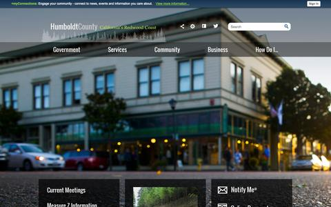 Screenshot of Home Page humboldtwib.com - Humboldt County, CA - Official Website | Official Website - captured Oct. 3, 2014
