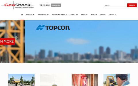 Screenshot of Home Page geoshack.com - home - GeoShack - captured June 17, 2019