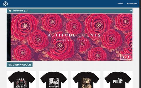 Screenshot of Home Page pma-clothing.de - PMA Berlin - Keep it positive since 2013 - PMA Clothing - captured Oct. 1, 2014