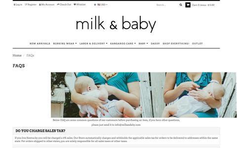 FAQs – Milk & Baby