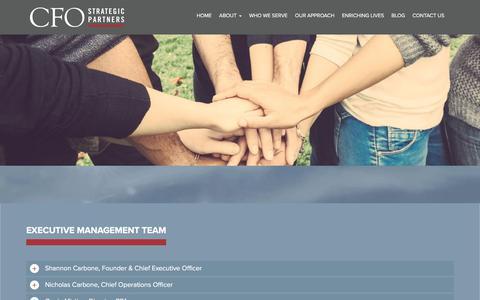 Screenshot of Team Page cfosp.com - Our Team | CFO Strategic Partners - captured Sept. 25, 2018