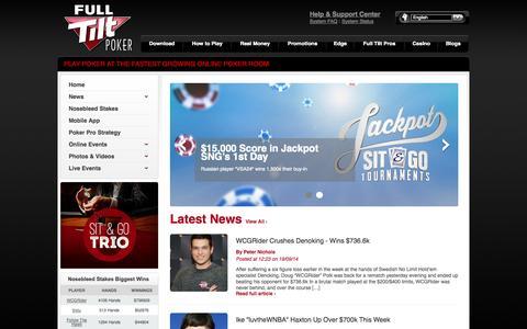 Screenshot of Blog fulltilt.com - Home Page | Full Tilt Poker Live Blog - captured Sept. 19, 2014