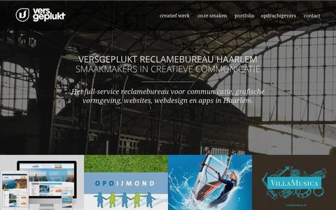 Screenshot of Home Page versgeplukt.nl - Versgeplukt communicatiebureau Haarlem - webdesign, logo's - captured Feb. 24, 2016