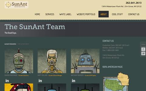 Screenshot of Team Page sunant.com - Meet The SunAnt Team: Milwaukee Website Developers | SunAnt - captured Oct. 27, 2014