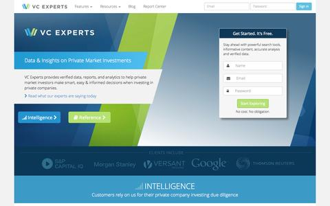 Screenshot of Home Page vcexperts.com - VC Experts - captured Sept. 22, 2014