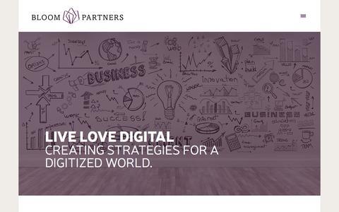 Screenshot of Home Page live-love.digital - Bloom Partners - captured Jan. 6, 2016