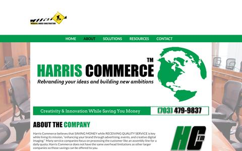 Screenshot of About Page harriscommerce.net - Harris Commerce :: Advertising Agency - Event Management - Branding - Political Marketing - captured July 11, 2016