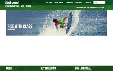 Screenshot of Team Page limecoral.com - LimeCoral Apparel Company - captured Jan. 29, 2016