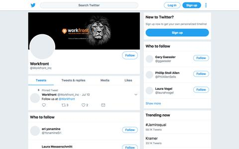 Tweets by Workfront (@Workfront_Inc) – Twitter