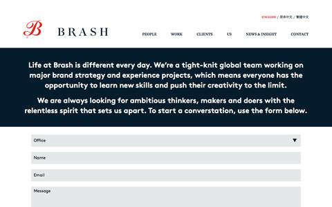 Screenshot of Signup Page brashbrands.com - Join Brash - captured Jan. 8, 2017