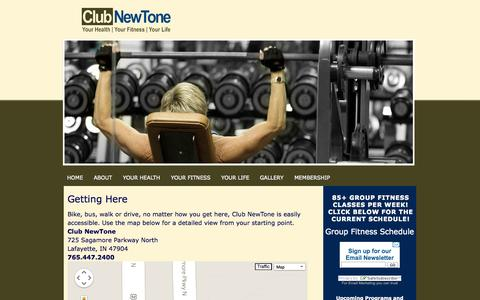 Screenshot of Maps & Directions Page clubnewtone.com - Club NewTone » Getting Here - captured Sept. 30, 2014