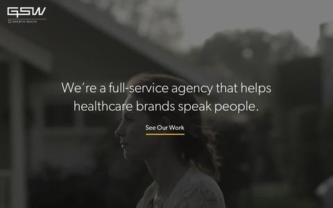 GSW – A full-service agency that helps healthcare brands speak people