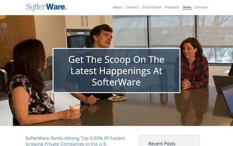 Screenshot of Press Page softerware.com - SofterWare Inc. Company News and UpdatesSofterWare News - captured March 5, 2018