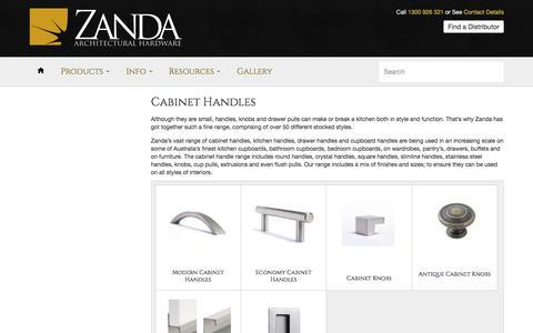 Cabinet Handles – Zanda Architectural Hardware