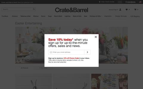 Easter Entertaining   Crate and Barrel