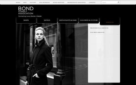 Screenshot of Services Page bondstreet.co.uk - Services | Industry | Bond Street - captured Oct. 19, 2018