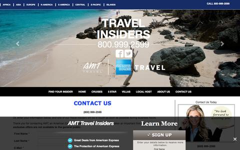 Screenshot of Contact Page amt-travel-insiders.com - Contact Us - AMT Travel Insiders - captured April 3, 2016
