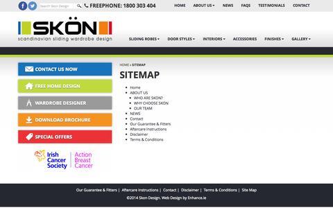 Screenshot of Site Map Page skondesign.com - Sliding Wardrobes   Built In Wardrobes   Custom Built Wardrobes / Sitemap - captured Sept. 29, 2014