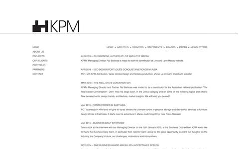 Screenshot of Press Page wordpress.com - Press | KPM Project Management Ltd. - captured Nov. 27, 2016