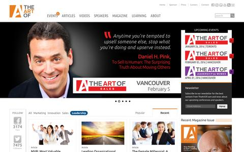 Screenshot of Team Page theartof.com - The Art of Productions | Media and Events for Business Professionals - captured Jan. 19, 2016