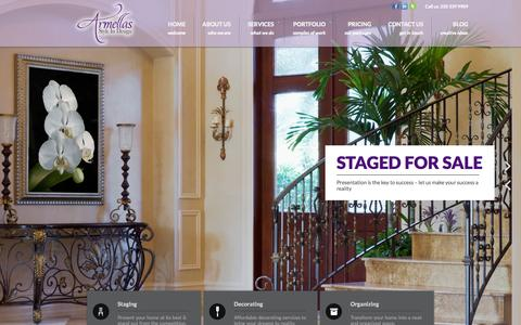 Screenshot of Home Page armellasstyleindesign.com - Armellas Style In Design - Commercial & Residential Interior Design - Comox Valley Interior Decorator, Stylist, Home Redesign, Space Planning - Comox Interior Redesign and Home Staging Specialist In Courtenay - Professional Organizer in Comox Valley  - captured Sept. 30, 2014