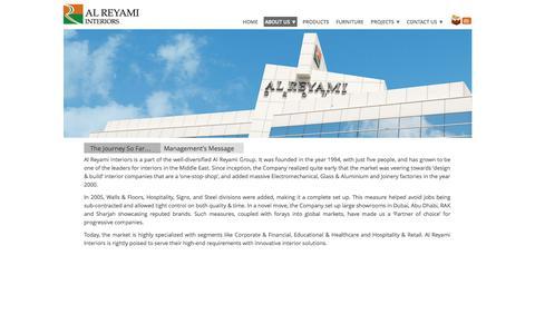 Screenshot of About Page Team Page reyami-interiors.com - Management | Al Reyami Interiors L.L.C - captured Oct. 23, 2014