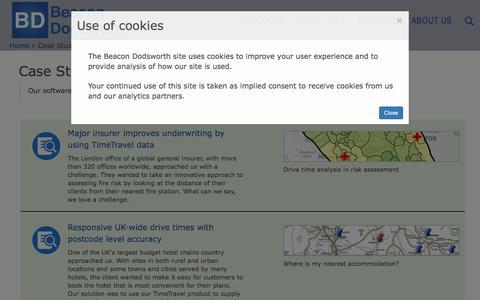 Screenshot of Case Studies Page beacon-dodsworth.co.uk - Case Studies   Beacon Dodsworth - captured Aug. 1, 2018