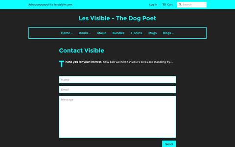 Screenshot of Contact Page lesvisible.com - Contact Les Visible – Les Visible - The Dog Poet - captured Jan. 5, 2017