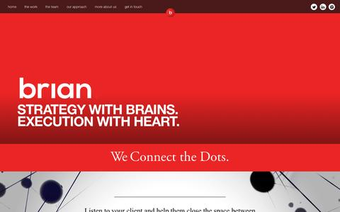 Screenshot of Team Page briancom.com - Brian. | Strategic Communications - captured Oct. 5, 2014