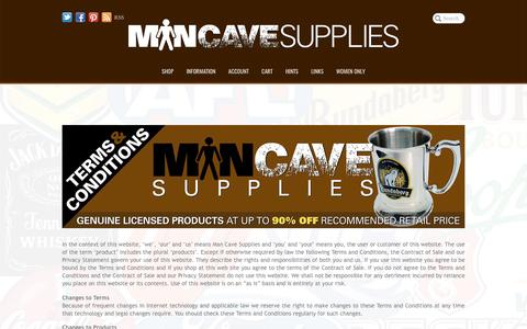 Screenshot of Terms Page mancavesupplies.com.au - Man Cave Supplies   Terms and Conditions - captured May 28, 2017