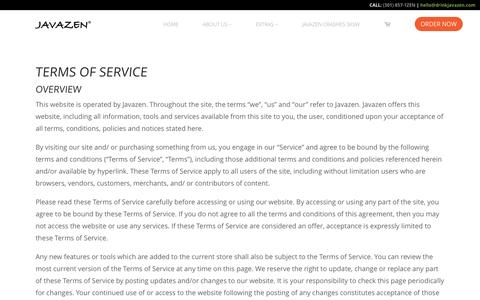 Terms of Service – Javazen