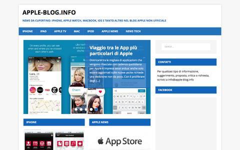 Screenshot of Home Page apple-blog.info - Apple-blog: tutto su iPhone, iPad, Apple Watch, Mac, Apple Tv - captured March 21, 2017