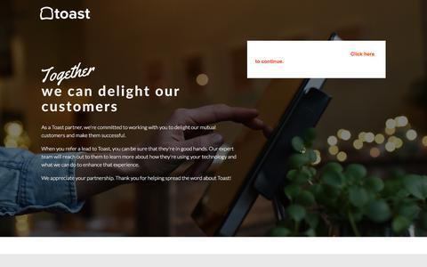 Refer a Lead | Toast Partners