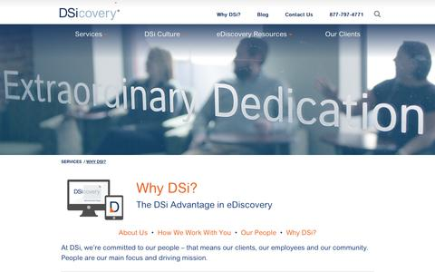 Screenshot of About Page dsicovery.com - About DSi | eDiscovery and Digital Forensics firm - captured May 19, 2016