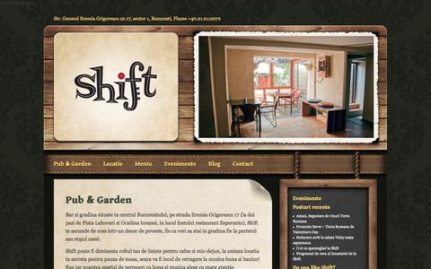 Screenshot of Home Page shiftpub.ro - Shift Pub - captured Sept. 30, 2014