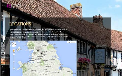 Screenshot of Locations Page legacyhotelsandresorts.co.uk - Locations - Legacy Hotels & Resorts Ltd - captured Nov. 1, 2014
