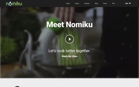 Screenshot of Home Page nomiku.com - Nomiku - Let's cook better together. - captured Nov. 11, 2015