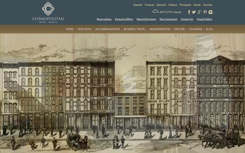Screenshot of Jobs Page cosmohotel.com - Cosmopolitan Careers | The Cosmopolitan Hotel New York Tribeca - captured Oct. 3, 2014