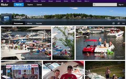 Screenshot of Flickr Page flickr.com - Flickr: FunLakeMO's Photostream - captured Oct. 22, 2014