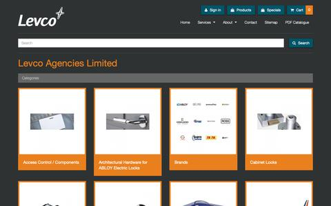 Screenshot of Products Page levco.co.nz - Levco Agencies Ltd: Products - captured Sept. 28, 2018