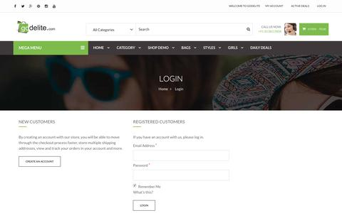Screenshot of Login Page godelite.com - Customer Login - Godelite.com - captured Jan. 30, 2017
