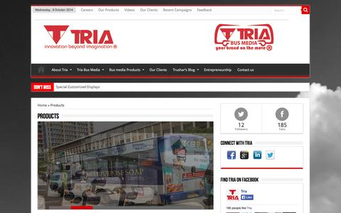 Screenshot of Products Page tria.co.ke - Products   Tria Group - captured Oct. 7, 2014