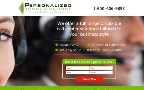 Screenshot of Landing Page callcenteragency.com - Managed IT Services - captured Oct. 27, 2014