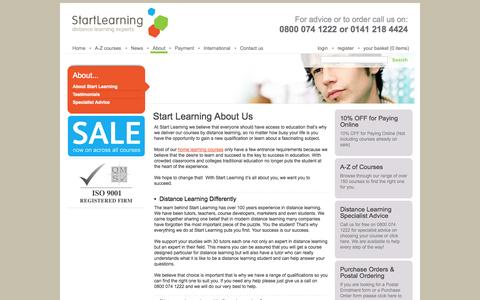 Screenshot of About Page start-learning.co.uk - Start Learning - About Us - captured Sept. 26, 2014