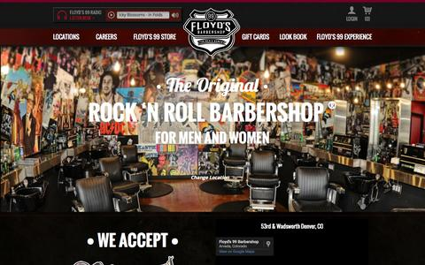 Screenshot of Home Page floydsbarbershop.com - The Barbershop for Men and Women | Floyds 99 Barbershop - captured Oct. 1, 2015