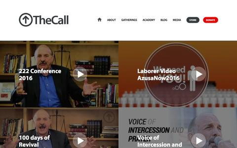 Screenshot of Press Page thecall.com - Media | TheCall - captured Feb. 28, 2016
