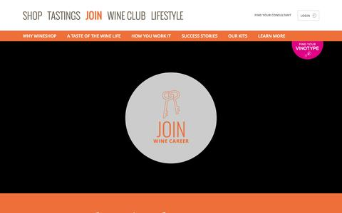 Screenshot of Signup Page wineshopathome.com - Join and Build a Career in the World of Wine - captured Aug. 13, 2016